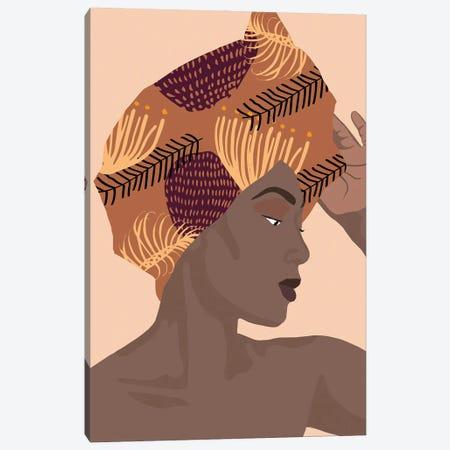 Summer Chill Woman Art Canvas Print #RLE116} by Merle Callesen Canvas Print