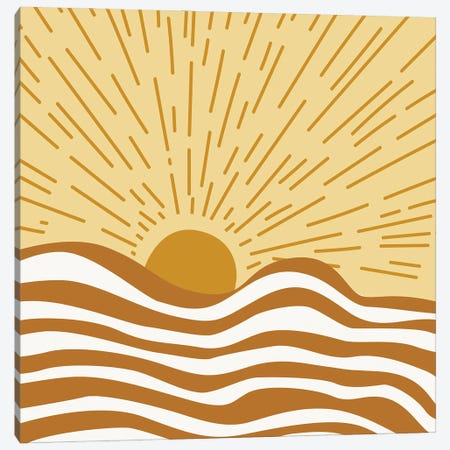 Sunshine Abstract Digital Canvas Print #RLE120} by Merle Callesen Canvas Art Print