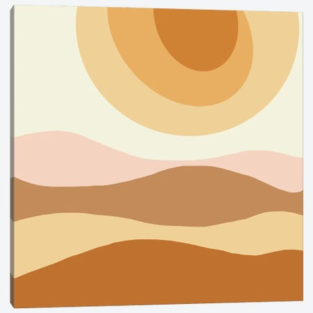 The Sun Abstract Illustration Canvas Print #RLE127} by Merle Callesen Canvas Art