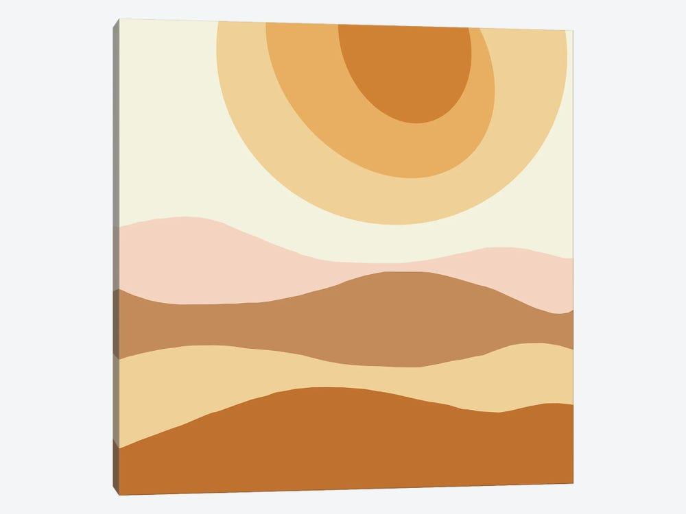 The Sun Abstract Illustration by Merle Callesen 1-piece Art Print