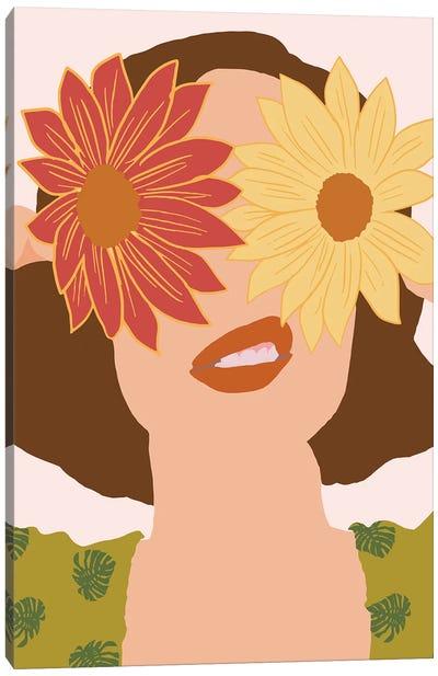 Behind Flowers Fashionart Canvas Art Print