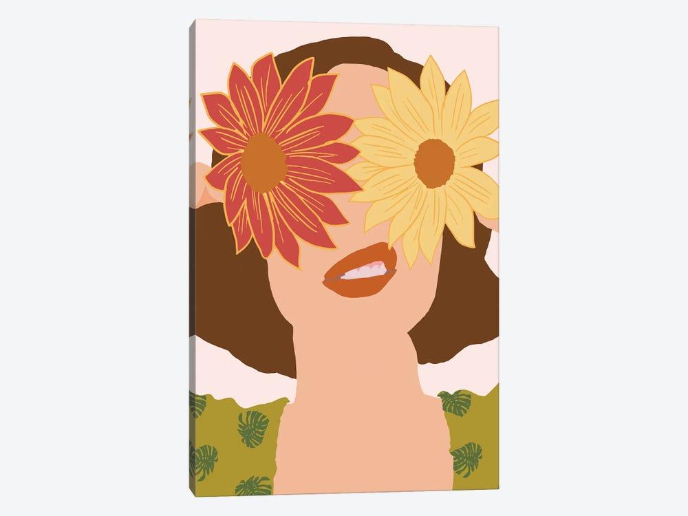 Behind Flowers Fashionart by Merle Callesen 1-piece Canvas Art