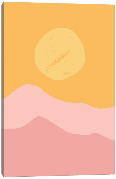 Colorful Sunrise Abstracts Canvas Art Print