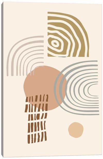 Earth Tones Abstract Shapes Canvas Art Print
