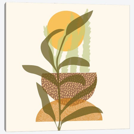 Emergence Lineart Digital Canvas Print #RLE35} by Merle Callesen Canvas Artwork