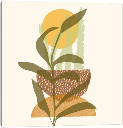 Emergence Lineart Digital Canvas Art Print