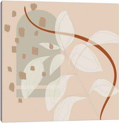 Follow The Tendril Minimal Canvas Art Print