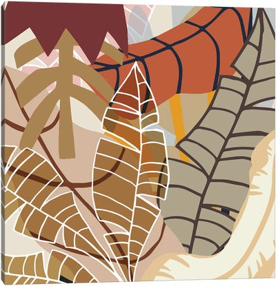 Good Bye Autumn Illustrations Canvas Art Print