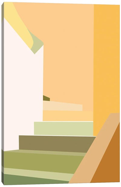 Happy Stairs Abstract Canvas Art Print
