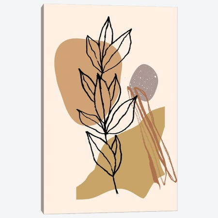 Minimalistic Twig Shapes Canvas Print #RLE77} by Merle Callesen Canvas Artwork