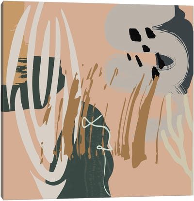 Abstract Mid Century Abstracts Canvas Art Print