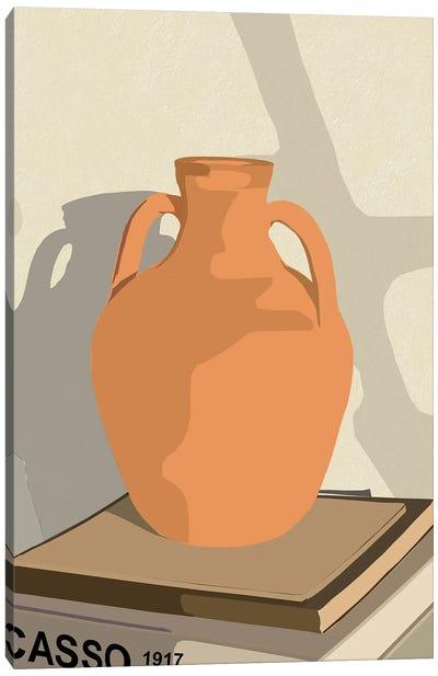 Antique Vase Abstract Design Canvas Art Print