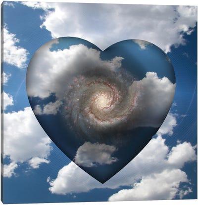 Cloud Heart With Spiral Galaxy Inside Canvas Art Print