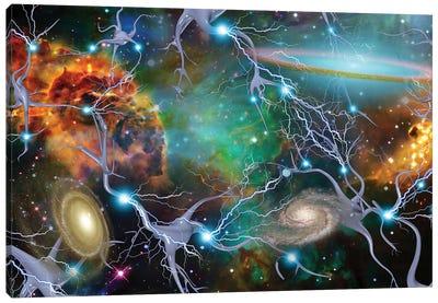 Brain Cells And Deep Space Canvas Art Print