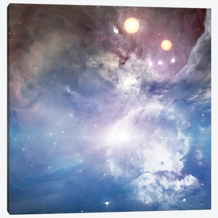 Bright Moon, Two Suns Canvas Print #RLF191} by Bruce Rolff Canvas Wall Art