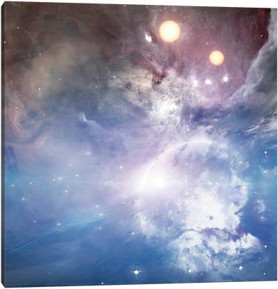 Bright Moon, Two Suns Canvas Art Print