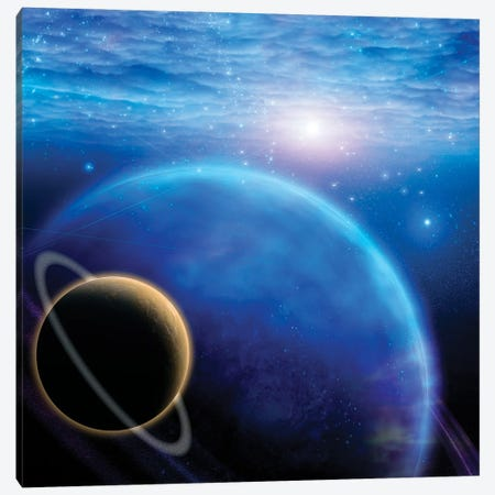Atmosphere And Planets In Deep Space Canvas Print #RLF21} by Bruce Rolff Art Print