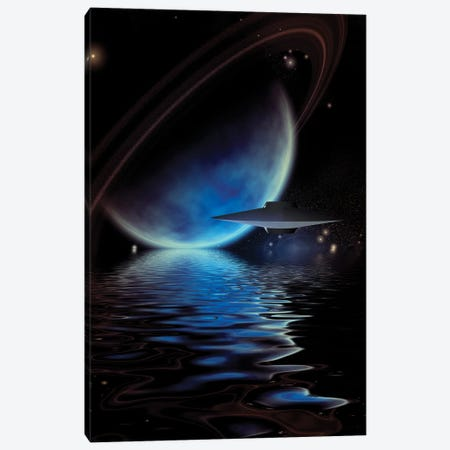 Alien Ufo'S Over An Exoplanet Sea Canvas Print #RLF25} by Bruce Rolff Canvas Art