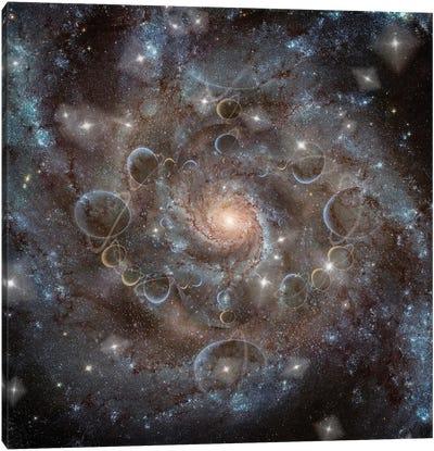 Deep Space Galaxy Fractal Canvas Art Print