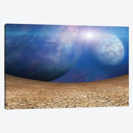 Planets And Cracked Earth Canvas Print #RLF36} by Bruce Rolff Canvas Art Print