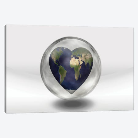 Earth Heart In Glass Container Canvas Print #RLF49} by Bruce Rolff Canvas Art Print