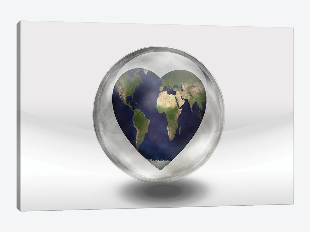 Earth Heart In Glass Container by Bruce Rolff 1-piece Art Print