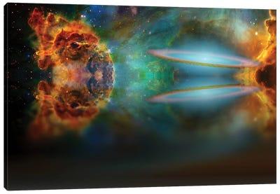 Alien Sky Reflected In Waters Canvas Art Print