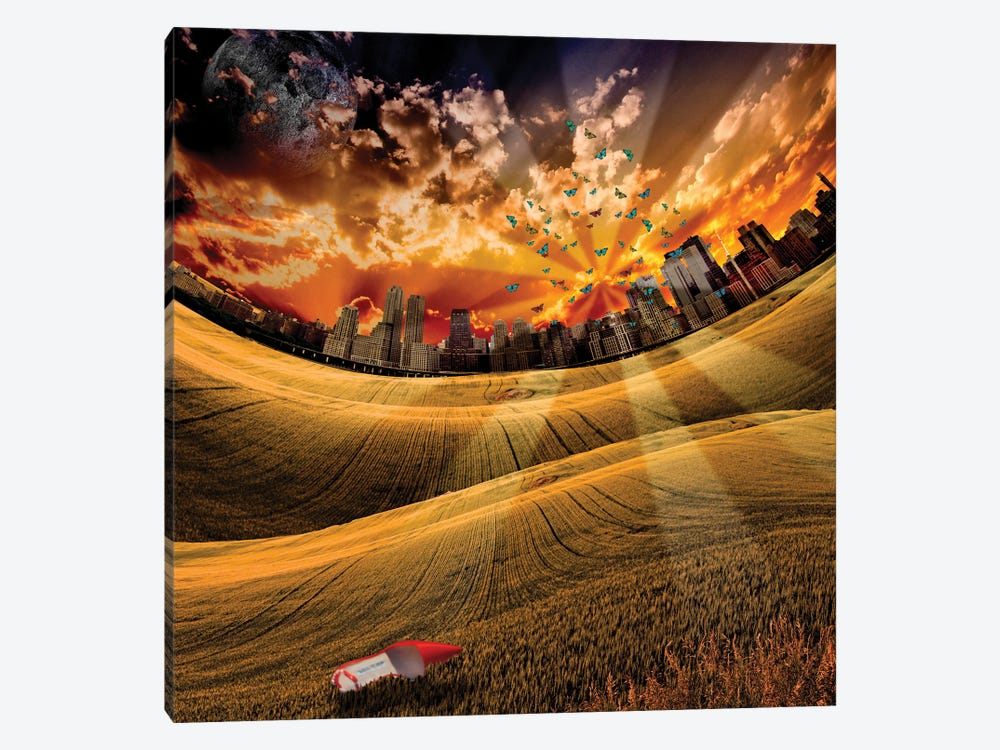 City Park And One Red Shoe by Bruce Rolff 1-piece Canvas Art
