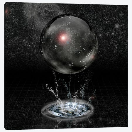 Crystal Sphere And Splash Before Stars Canvas Print #RLF5} by Bruce Rolff Canvas Artwork