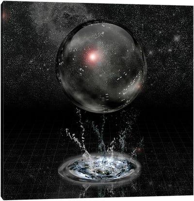 Crystal Sphere And Splash Before Stars Canvas Art Print