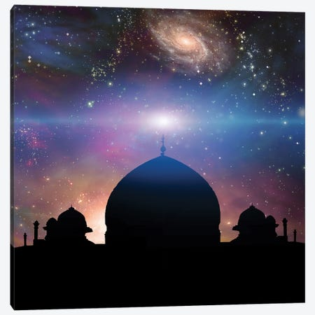 Temple In Eastern Style Universe With Galaxies On A Background Canvas Print #RLF66} by Bruce Rolff Canvas Art