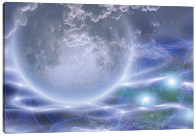 Deep Space Scene Canvas Art Print