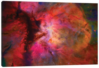 Colorful Nebula In Galactic Space Canvas Art Print