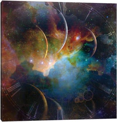 Colorful Space Landscape Canvas Art Print