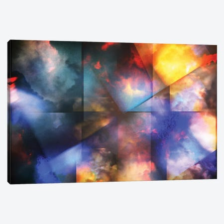 Colorful Clouds With Overlapping Rectangular Layers Canvas Print #RLF97} by Bruce Rolff Canvas Art Print