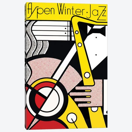 Aspen Winter Jazz, 1967 3-Piece Canvas #RLI1} by Roy Lichtenstein Canvas Wall Art