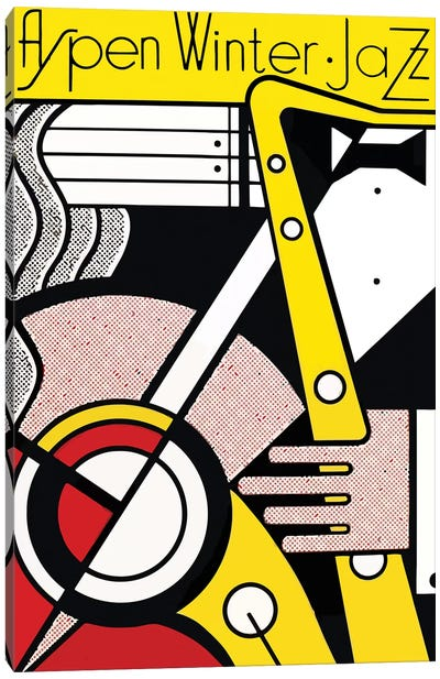 Aspen Winter Jazz, 1967 Canvas Art Print