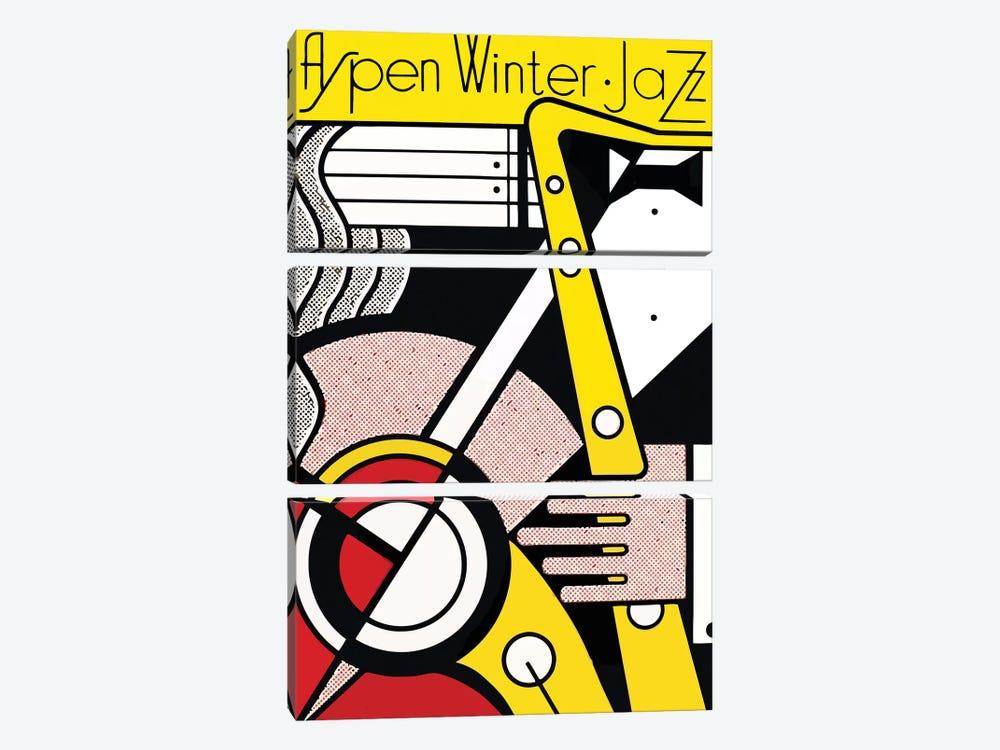 Aspen Winter Jazz, 1967 by Roy Lichtenstein 3-piece Canvas Print