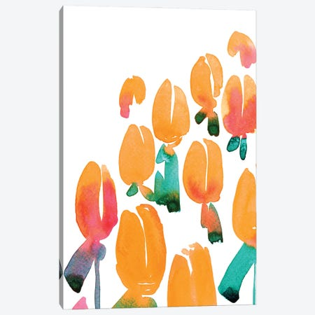 Alicia Bouquet I Canvas Print #RLZ108} by blursbyai Canvas Artwork
