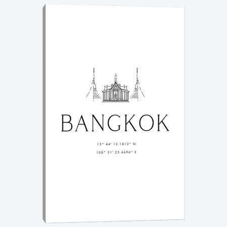 Bangkok Coordinates Canvas Print #RLZ114} by blursbyai Canvas Artwork