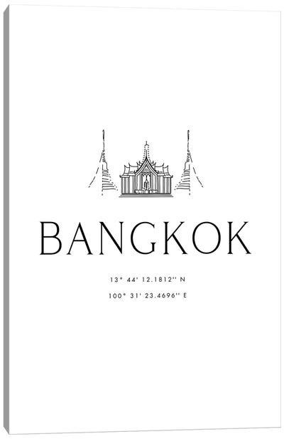 Bangkok Coordinates Canvas Art Print