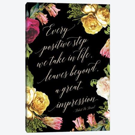 Positive Steps In Life Canvas Print #RLZ130} by blursbyai Canvas Art Print