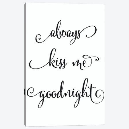 Kiss Me Goodnight Canvas Print #RLZ133} by blursbyai Canvas Print