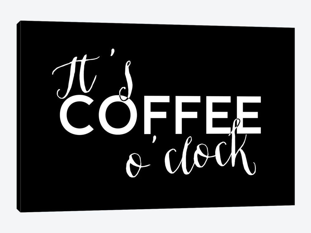 It's Coffee O'Clock by blursbyai 1-piece Canvas Wall Art