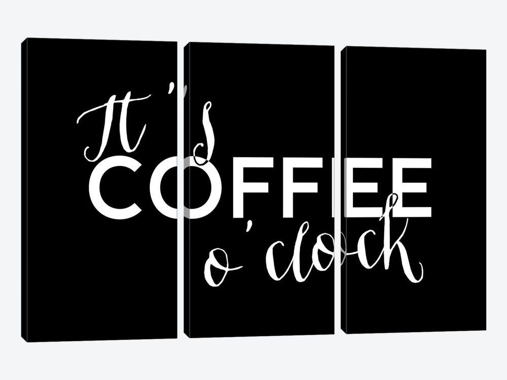 It's Coffee O'Clock by blursbyai 3-piece Canvas Art