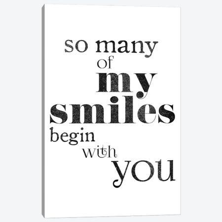 My Smiles Begin With You Canvas Print #RLZ138} by blursbyai Art Print