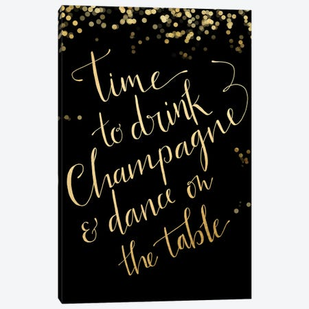 Time To Drink Champagne Canvas Print #RLZ19} by blursbyai Canvas Art