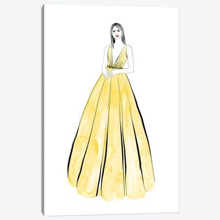 Kaede Fashion Illustration In Yellow Canvas Print #RLZ290} by blursbyai Canvas Artwork