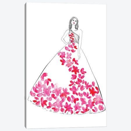 Oletta Fashion Illustration In Hot Pink Canvas Print #RLZ292} by blursbyai Canvas Artwork