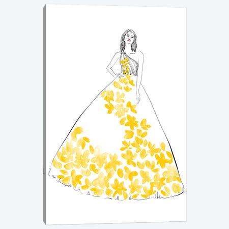 Oletta Fashion Illustration In Yellow Canvas Print #RLZ293} by blursbyai Canvas Art